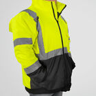 Hi-Vis Class 3 Safety Jacket Neon Reflective Coat Bomber Jacket L XL XXL XXXL