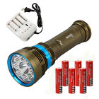 Diving 20000lm 9x XML L2 LED SCUBA Waterproof Flashlight Torch LAMP 6x18650+CH