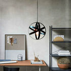 Retro Industrial Iron Cage Hanging Ceiling Pendant Light Holder Lamp Shade US