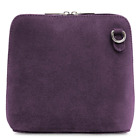 Ladies Italian Leather Small Suede Cross Body Shoulder Bag