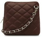 Ladies Italian Leather Quilted Womens Shoulder Cross body Bag