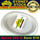 40 Disposable Plastic Plates 230mm Round White Plate Party Occasions