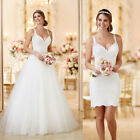 2018 New Removable Wedding Dress Bridal Gown Custom Size 4 6 8 10 12 14 16 18 ++