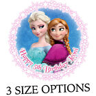 Anna and Elsa from Frozen personalised icing sheet cake topper (K339C)
