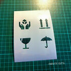 Handle with Care Fragile reusable STENCIL Shipping Packaging Marking Label Signs