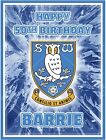 Sheffield Wednesday personalised rectangle edible icing cake topper