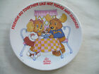 Child's Plastic Plate, Get Along Gang, Friends & Hot Fudge Sundaes, 1984