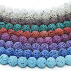 Dyed Lava Rock Beads Natural Round Loose 8mm 15.5' Strand