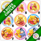b. Winnie the Pooh Edible Icing Picture Round Circle Cake Topper