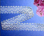 """White Lace Trim Galloon 3/4"""" Picot Doll Lace R07V Added Trims ShipFree"""
