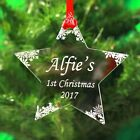 Personalised Christmas Tree Ornament Decoration First Xmas  Bauble Gift Engrave