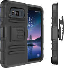 For Samsung Galaxy S8 Active Heavy Duty Armor Belt Clip Holster Hard Case Cover