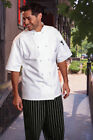 Uncommon Threads Monterey chef coat, short sleeve, White, XS to 2XL, 0484