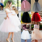 rockabilly kids dresses - Women Kids Girls Princess Tulle Tutu Skirts Wedding Prom Rockabilly Mini Dress