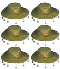 FANCY DRESS AUSSIE AUSTRALIAN HAT WITH CORKS CORK HAT CROCODILE DUNDEE WHOLESALE