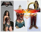 Batman v Superman Wonder Woman Diana Prince Cosplay Costume with Shoes Full Set