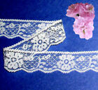 """Lace Trim White Floral 1-1/8"""" Clothing Craft Doll H21AV Added Trims ShipFree"""