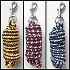 2 METRE LENGTH HORSE LEAD ROPE WITH SNAP CLIP Yellow Orange Black Navy Blue Red