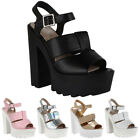 WOMENS CUT OUT DESIGN LADIES STRAPPY GRIP SOLE HIGH HEEL SANDALS SHOES SIZE 3-8
