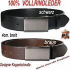 Leather Belt FULL RAWHIDE LEATHER, Smooth glatt-4mm Thick Extra Long