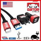 USB-C 3.1 Type-C Data Sync Cable Car Home Wall Charger Samsung Galaxy Android LG