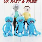 Rick and Morty Happy & Sad & Angry Mr. Meeseeks Plush Doll Toy 10'' Figures