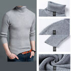NEW MEN'S KNITTED WOOL SWEATER WINTER CASUAL POLO ROLL NECK PULLOVER JUMPER TOPS