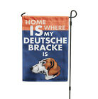 where to buy patio furniture covers - Home is where my DEUTSCHE BRACKE DOG is Yard Patio House Banner Garden Flag