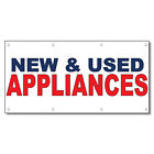 New & Used Appliances Blue Red 13 Oz Vinyl Banner Sign With Grommets
