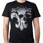 SCHECTER GUITARS Fleur De Skull Licensed Adult T-Shirt L XL 2XL NEW