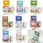 Washi Masking Tape Craft Stickers Pack Decorative Labelling Scrapbooking DIY x 1