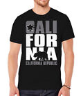 Mens Black Short-Sleeve Men's California Republic T-Shirt