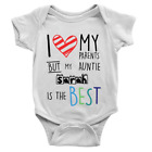 Personalised Auntie Is The Best Babygrow Cool Hearts Gift From Aunt Custom Name