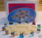 12 Pewter Mexican Train Game Markers with Train Hub