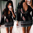 Sexy Womens Ladies Casual Loose Sleeve Exotic Mini Dress Evening Party Cocktail