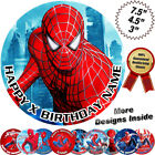 Spiderman Cake Topper, Round Circle, Edible Icing Sheet, Personalised