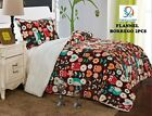 Fancy Linen Twin, Full Blanket Bedspread Brown Owl Soft Plush with Sherpa New image
