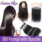 9A 360 Degree Lace Frontal Closure with  Brazilian Virgin Remy Hair Bundles