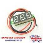 "White Mini Voltmeter 5-30V DC 0.28"" 2 Wire Conn. LED Panel Digital Voltage Meter"