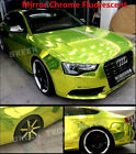 Best Wrap Stretch Chrome Mirror Vinyl Home Car-Styling DIY Stickers Lemon Yellow