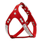 Suede Leather Bling Rhinestone Pet Dog Harness for Chihuahua Yorkie Terrier Pug