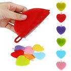 New Heart Shape Silicon Cleaning Dish Sponge Scrubber Washing Scouring Pad