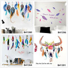 Colorful Feathers Home Room Decor Removable Wall Stickers Decals Wandbilde