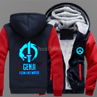 Game OW Overwatch Genji Zipper Hoodie Sweatshirt Thicken Coat Cosplay costume Y5