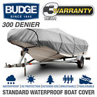 Budge 300 Denier Waterproof Boat Cover | Fits V-Hull Fishing Boats | 6 Sizes