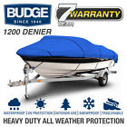 Budge 1200 Denier Boat Cover | Fits V-Hull Fishing Boats | 12 Colors and Sizes