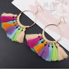 Boho Long Tassel Earring Vintage Dangle Women Statement Bead Crystal Drop Gift