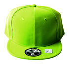 Fitted Acrylic Plain Style Lime Green Hat