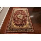 9x12 Persian Rug Wool Isfahan Burgundy Routine Area Rugs For Living Room Red