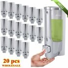 dispenser liquid soap - LOT 20 PACK 350ml Wall Mount Liquid Soap Dispenser Bathroom Shower Shampoo X6